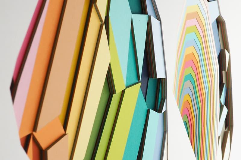 huntz liu paper cuts giant robot exhibition artworks