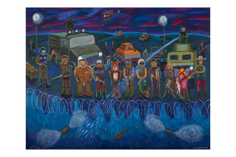 Jim Denomie Standing Rock Paintings Bockley Gallery