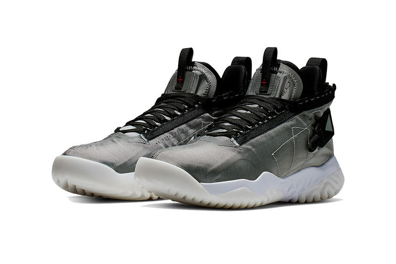 jordan brand proto react 2019 footwear white black metallic silver white sail