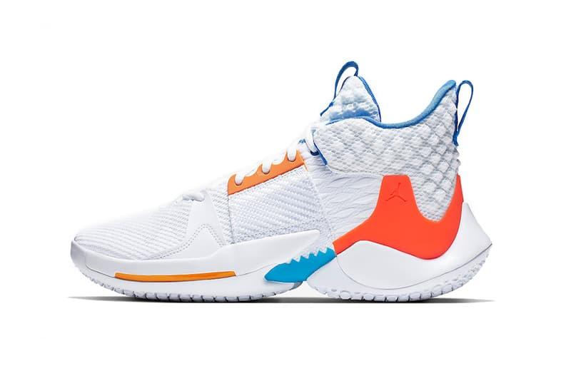 the latest 3e2e1 ef078 jordan why not zer0 2 okc home 2019 march footwear jordan brand russell  westbrook