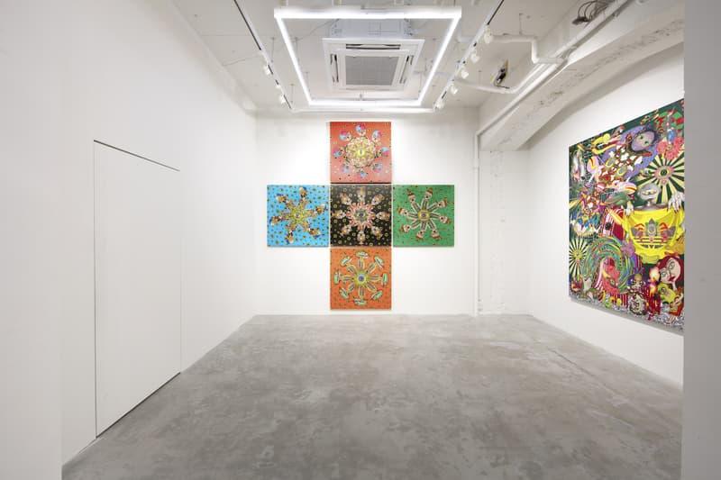 keiichi tanaami adidas originals nanzuka underground exhibition paintings artworks installation sculptures