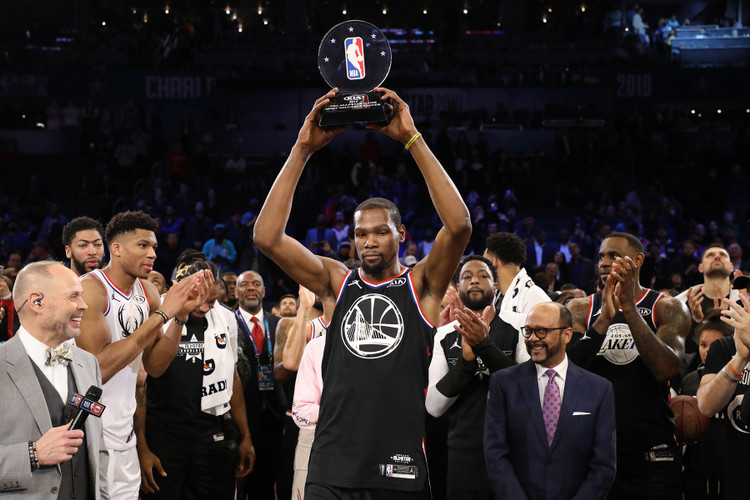 2282f5210f5a Kevin Durant Named All-Star MVP as Team LeBron Defeat Team Giannis