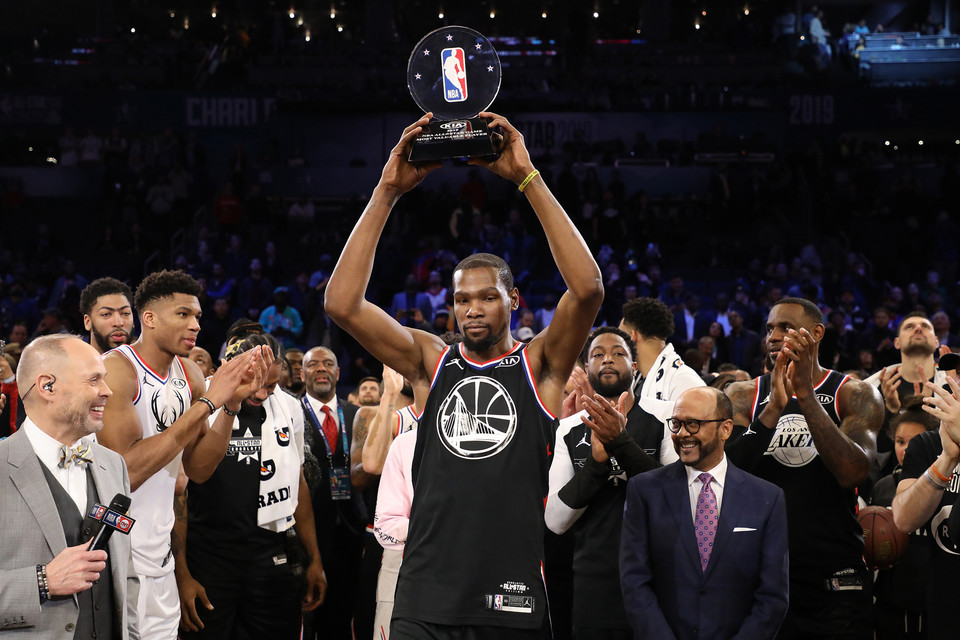 21b9208ceb8 Kevin Durant Named All-Star MVP as Team LeBron Defeat Team Giannis. A  second title for the Golden State Warrior. Kevin Durant Named 2019 NBA ...
