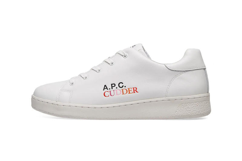 Kid Cudi x A.P.C. Collaboration Available Now petit standard dream on cardigan tennis minimal sneakers south salopette overalls bold stripe tee splash tee release info price