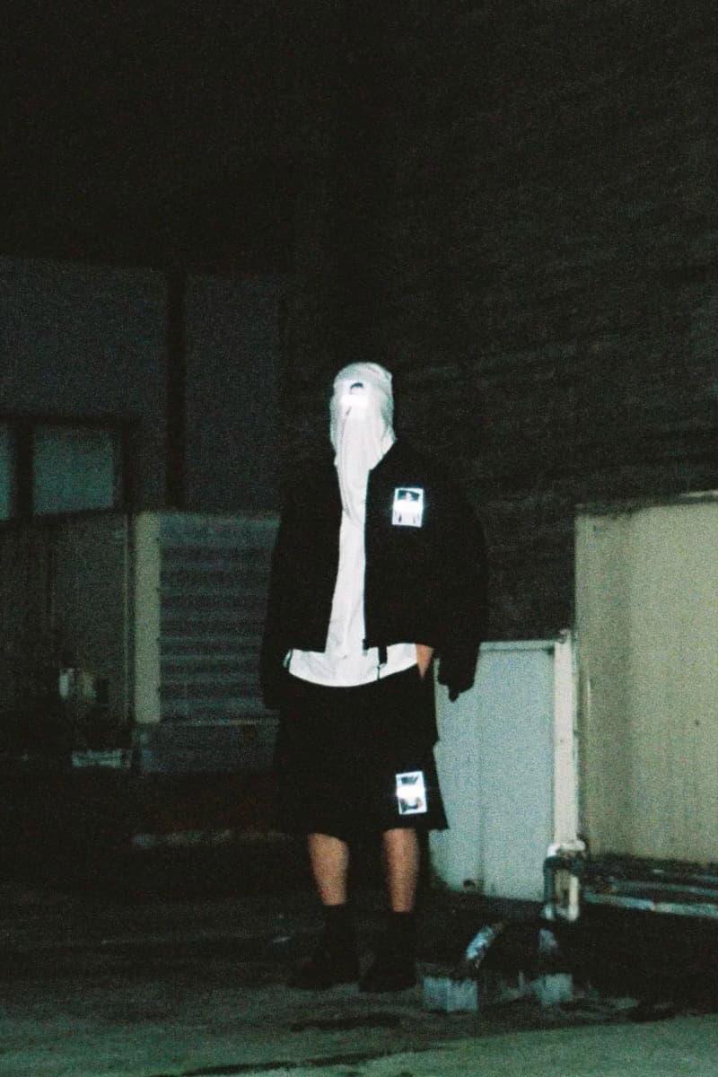 KOMAKINO Spring Summer 2019 /017 Editorial jacket hoodie t shirt pants graphics David Cronenberg Crash