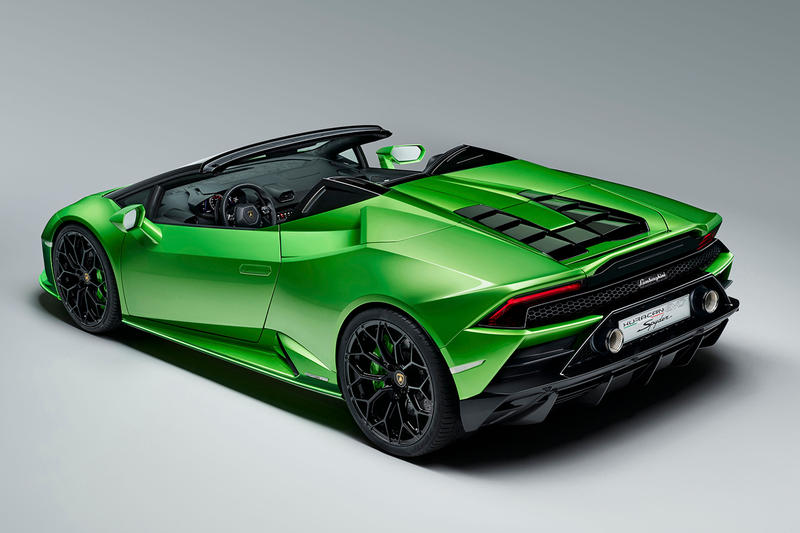 Lamborghini Huracan Evo Spyder Performante Engine Geneva Motor Show 2019 Convertible Drop Top 640 hp 600 Nm torque Automobili