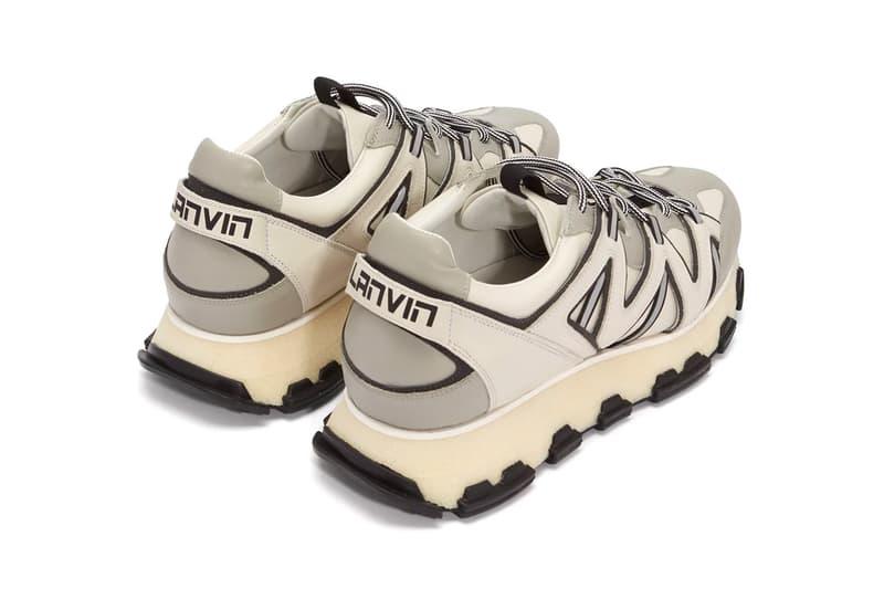 Lanvin Lightning Sneaker White Grey Release