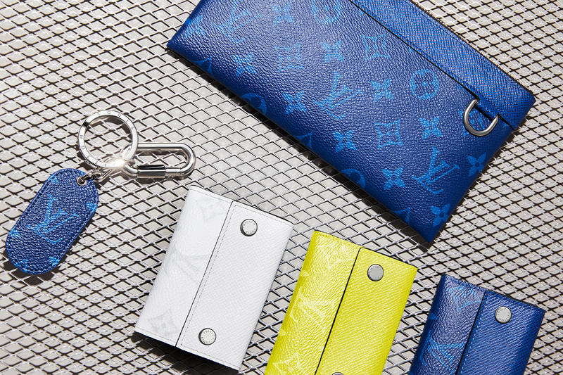 2a35586cbb8 Louis Vuitton Debuts Taïgarama Leather Goods Line virgil abloh bags  accessories lv blue yellow black white