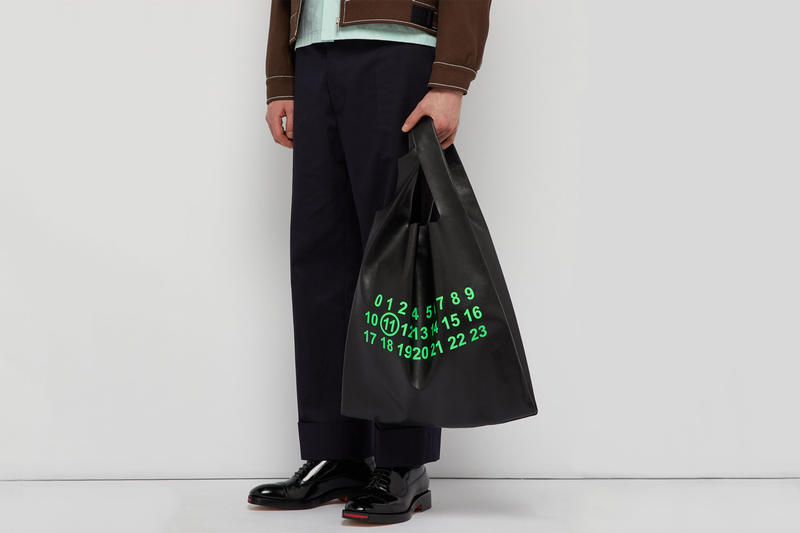 Maison Margiela Leather Logo Print Tote Bag Release