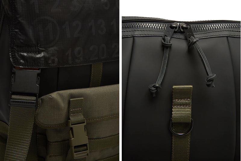 Maison Margiela Technical Numerical Backpack Release Info Khaki Black tactical LN CC