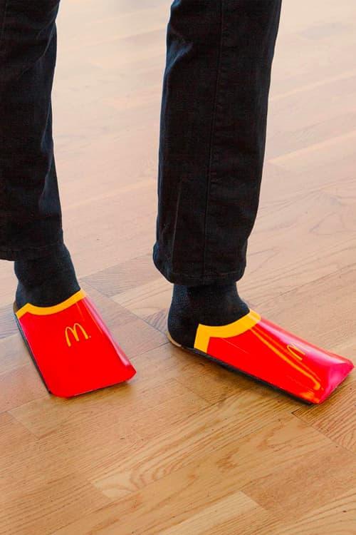 McDonald's Roasts Balenciaga Over French Fry Shoe inspired carton red yellow golden arches