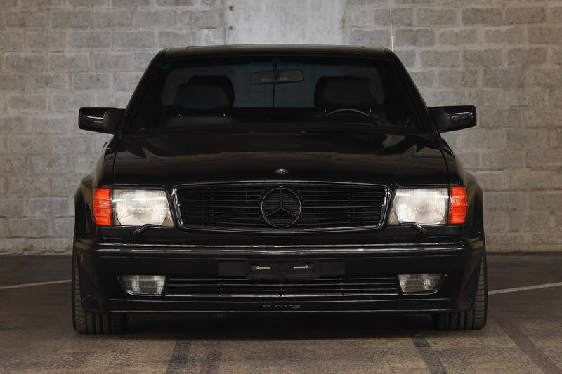 Mercedes Benz 1989 560 SEC AMG Wide Body Auction RM Sotheby's Benz Murdered-Out Blacked Out wide body Rims Engine