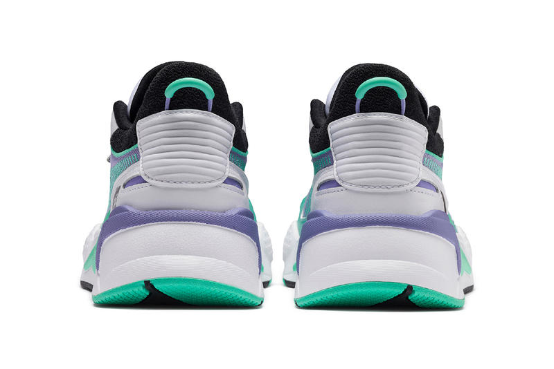 mtv puma rs x tracks 2019 march footwear sneaker shoes black white purple teal clothing apparel collection capsule