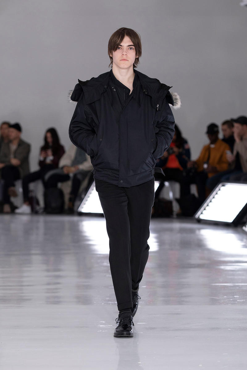 N.HOOLYWOOD Fall Winter 2019 NYFW Show Runway Mens New York Fashion Week Japanese fashion New Balance 996 Daisuke Obana outdoor