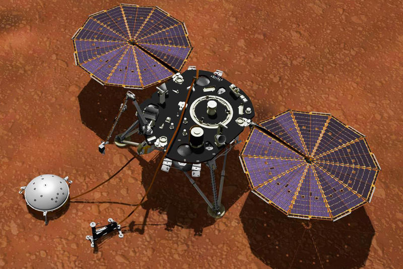 NASA Mars Weather Report space travel red planet science rover Mars InSight mission USA technology