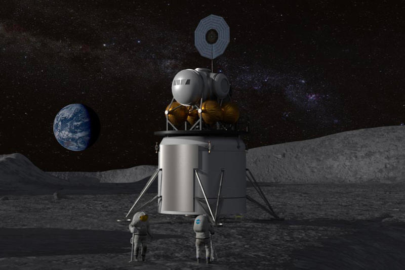 NASA Plans Moon Landing Commercial Vehicles 2028 Space Policy Directive 1 Gateway Orion Space Launch System