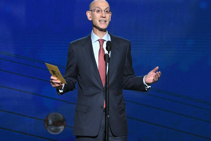 Adam Silver Introduces NBA's New Smart Jerseys all star weekend basketball