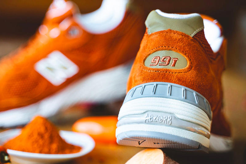New Balance M991 Receives a Food-Inspired Colorway orange suede release drop date images price footwear info