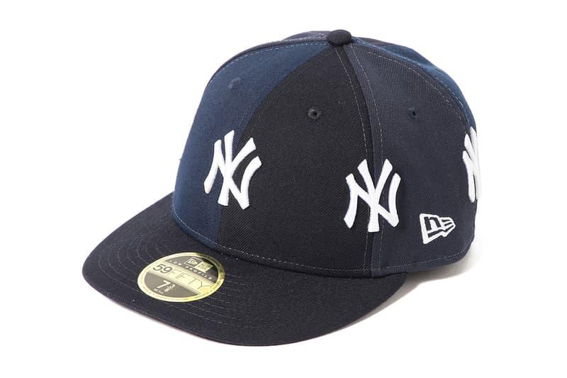 BEAMS new era yankees collab crazy panel hat cap flatbrim branding logo patchwork release date drop buy march 2019