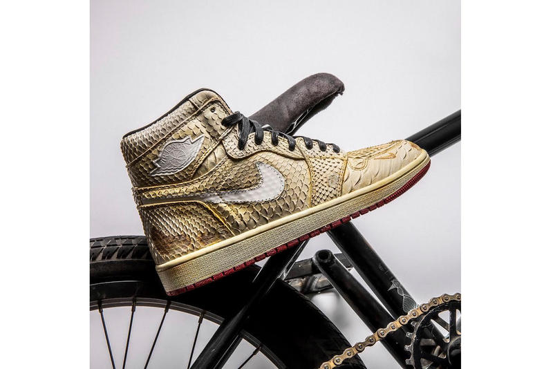 "The Shoe Surgeon's Nigel Sylvester Air Jordan 1 ""Lux"" jordan brand bmx"