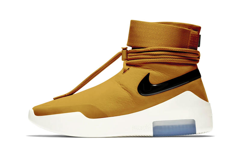 online store a80ca 4c885 Nike Air Fear of God SA Shoot Around Wheat Gold Announcement Jerry Lorenzo