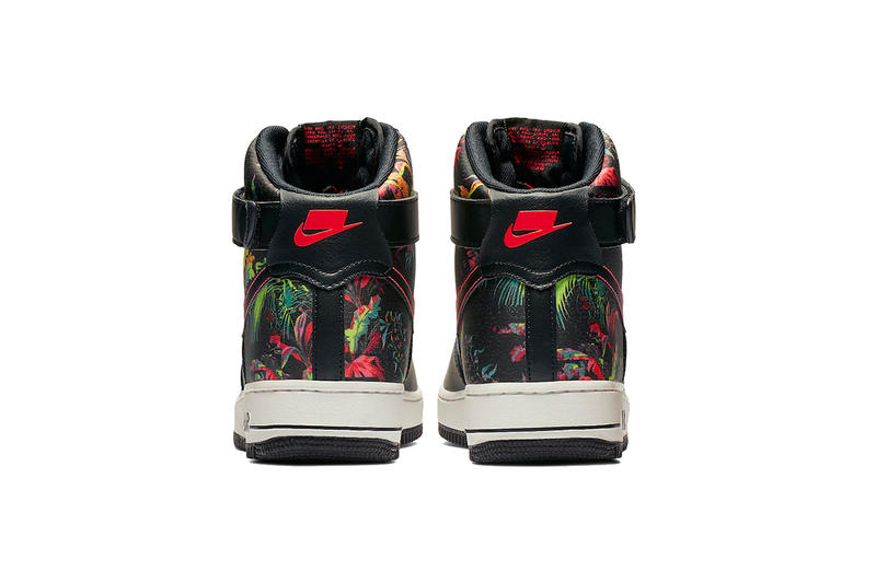 nike air force 1 high black floral 2019 footwear nike sportswear shoes sneaker spring february release date info details cost price