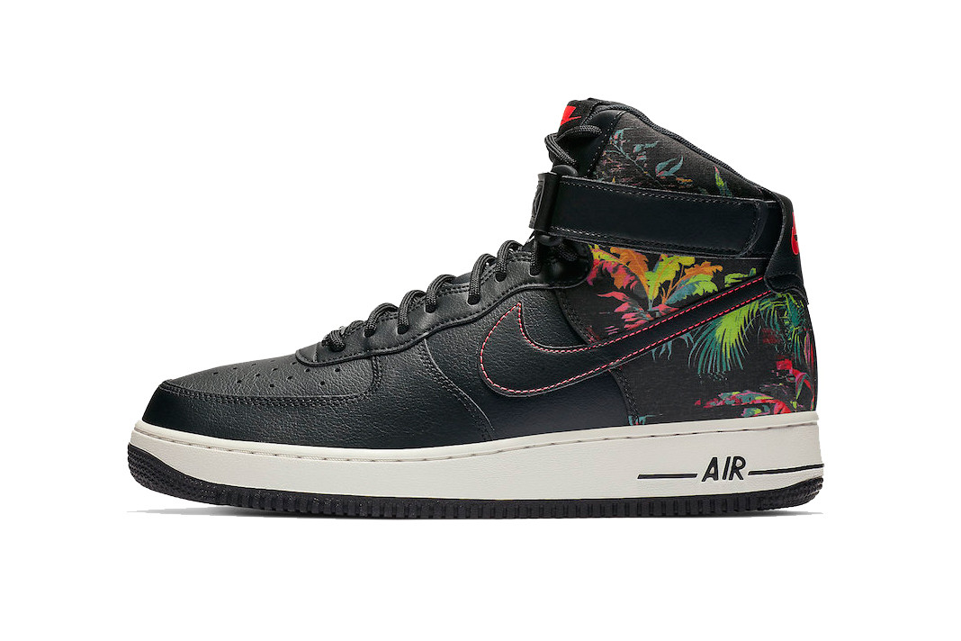 Nike Air Force 1 High Black Floral Hypebeast