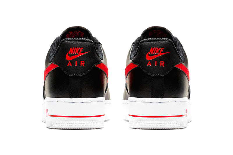 Nike Mixes Leather and Mesh on New Air Force 1s black red white volt grey blue release info images price footwear