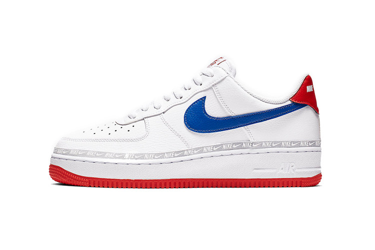 online retailer 2bc05 a86a9 Nike Air Force 1 Gets Patriotic With Red, White and Blue Hues