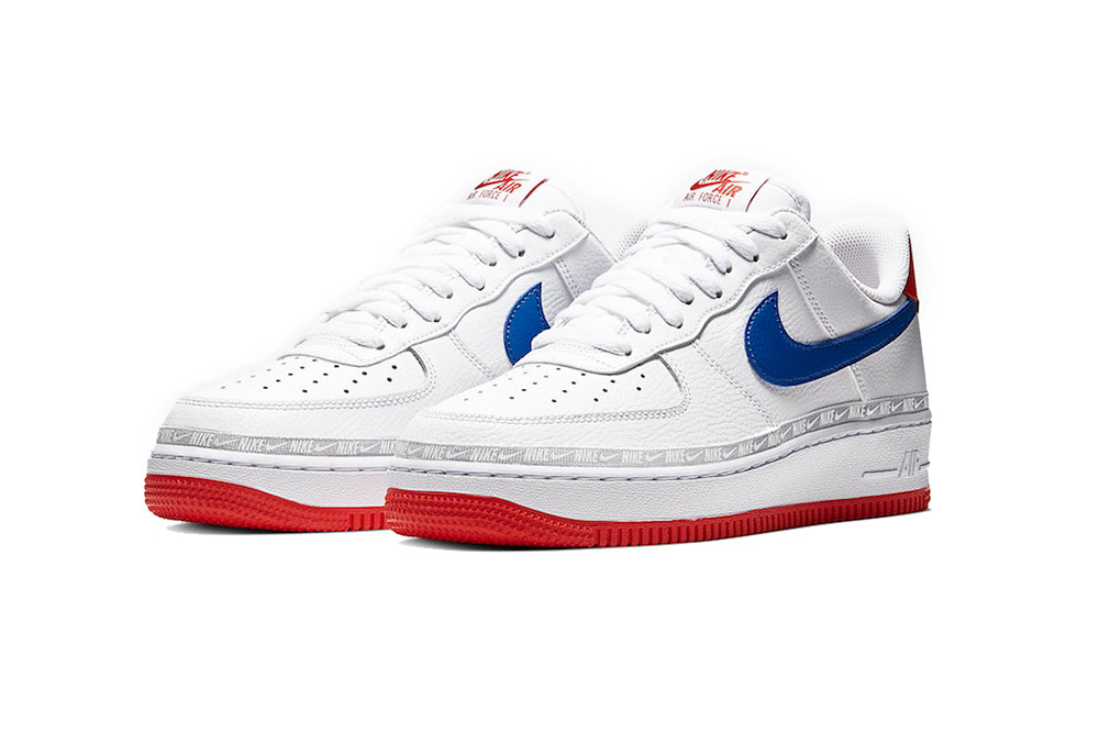 Nike Air Force 1 White Blue Red Release Info Hypebeast