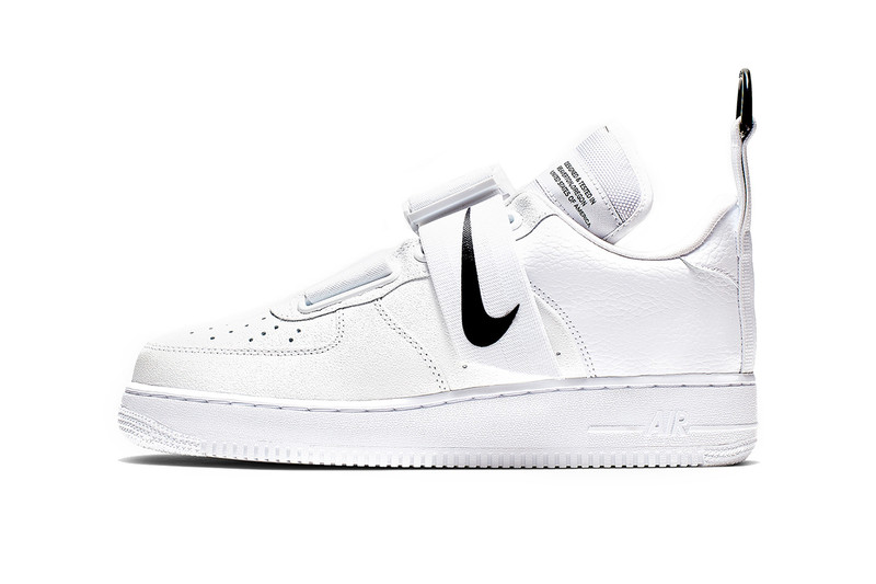 newest ab6cc 8d26c Nike s reworked Air Force 1 Utility has surfaced with a clean monochromatic  theme. Dipped in all white, the colorway gives a modern upgrade to the  classic