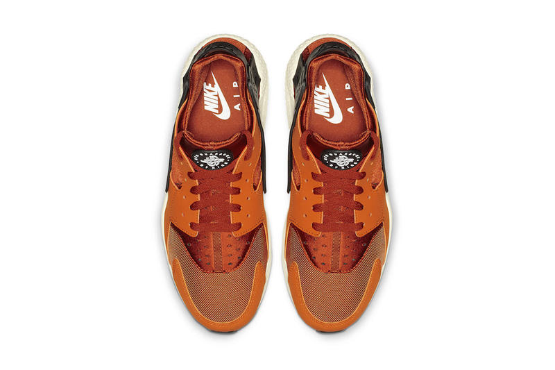 "Nike Air Huarache ""Firewood Orange"" Release Info ""Firewood Orange/Campfire Orange-Sail-White"" 318429-802 pricing stockist available now web store retailer drop"