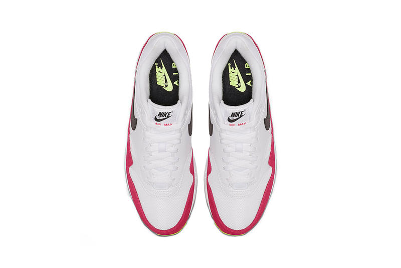 newest e741e de476 nike air max 1 rush pink volt white black 2019 april release date footwear  nike sportswear