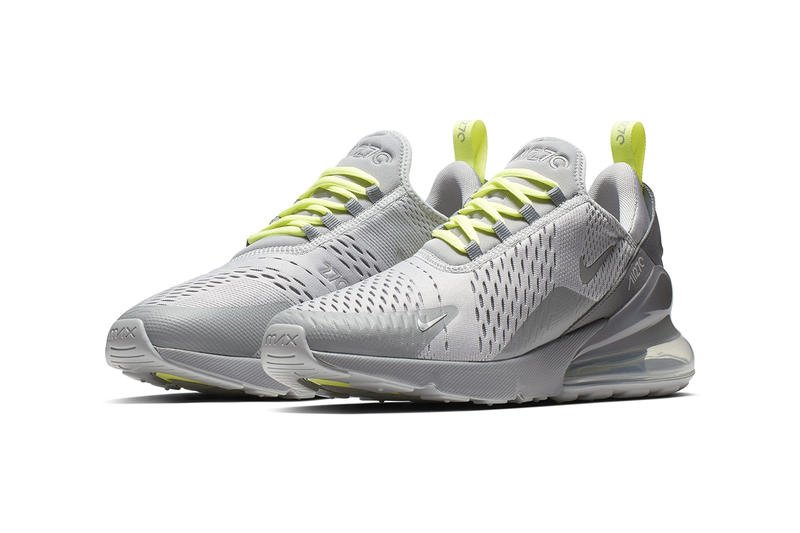 Nike Air Max 270 SS19 Grey Neon Navy Neon Colorways Drop Release First Look