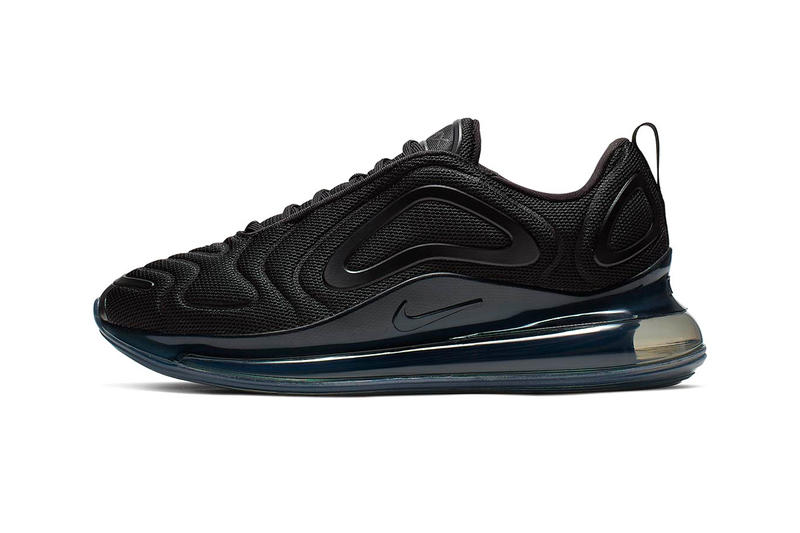 the latest c5c23 358af Nike Air Max 720 Triple Black Release Info Date mesh