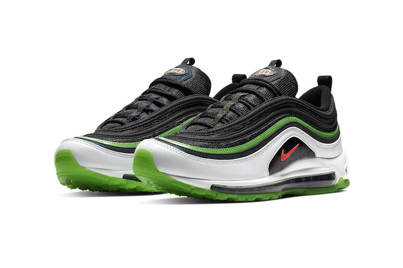 "Nike Air Max 97 ""Home And Away"" Dallas Sneaker release info pricing stockist ""Black/Bright Crimson-White-Rage Green"" CD7788-001 March 1 2019"