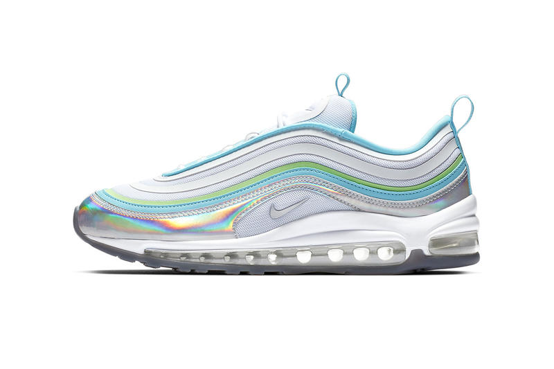 pretty nice 461e8 f68ab Nike Air Max 97 Iridescent Release Info white blue green neon BV6670-101
