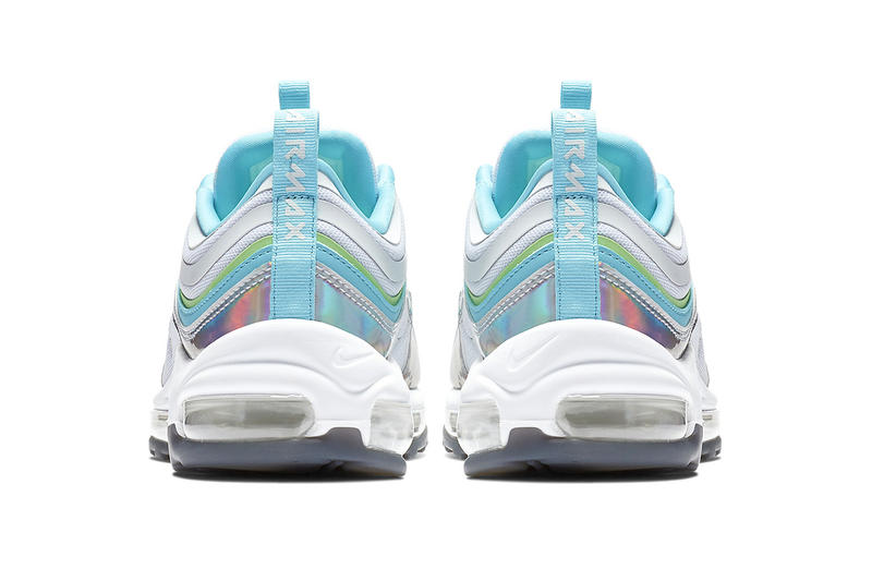 Nike Air Max 97 Iridescent Release Info white/blue/green neon BV6670-101 february 2019 price info stockist release date BV6670-101
