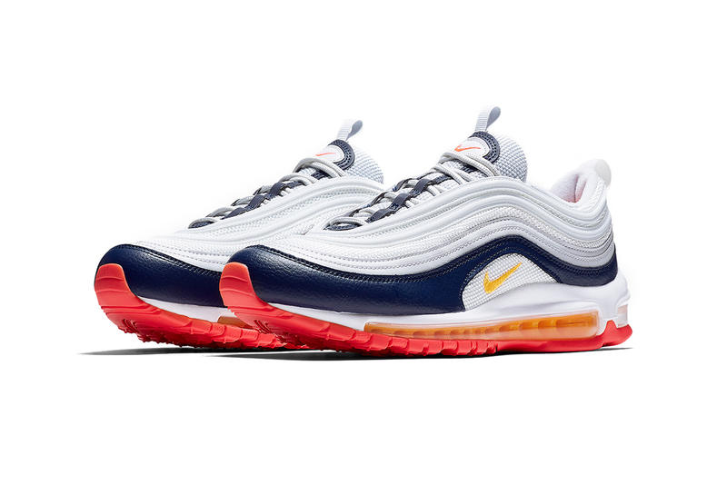 2a7462a9e79 nike air max 97 2019 march footwear nike sportswear pure platinum laser  orange midnight navy racer