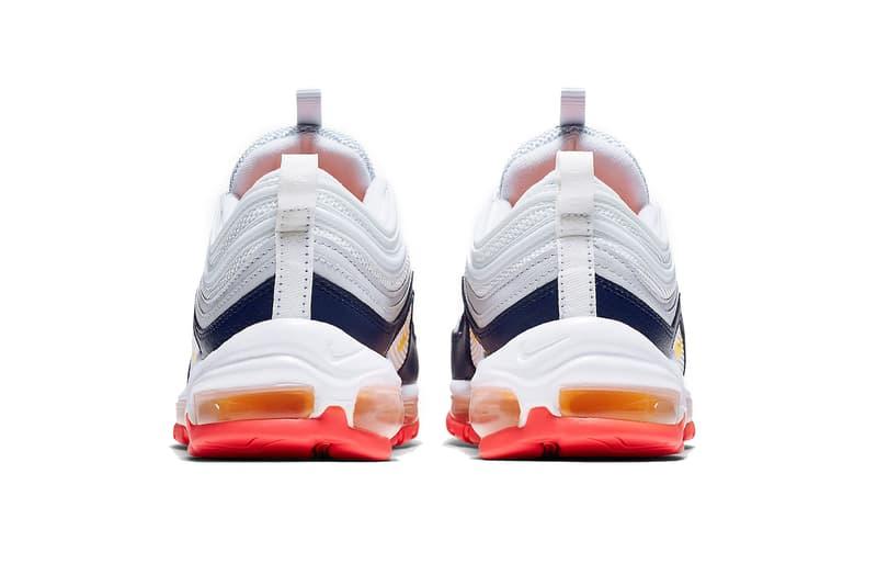nike air max 97 2019 march footwear nike sportswear pure platinum laser orange midnight navy racer pink summit white