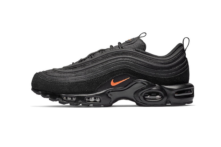 0432bbc0fa Hits of Orange Decorate This Sleek Nike Air Max Plus 97 Colorway