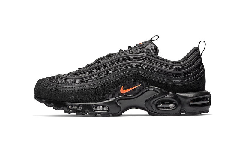 cc0335ab10 Nike Air Max Plus 97 Black Orange Release suede leather nylon mesh info Date