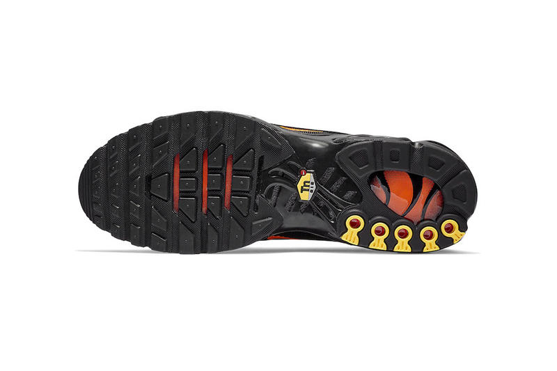 6c53bff099 Nike Air Max Plus 97 Black Orange Release suede leather nylon mesh info Date