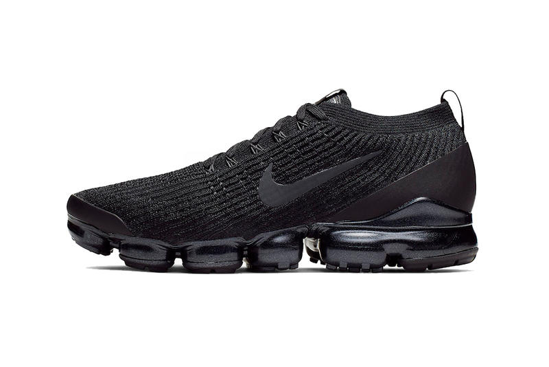 ba09eb593b75 nike air vapormax flyknit 3 0 triple black 2019 march footwear nike running  nike sportswear