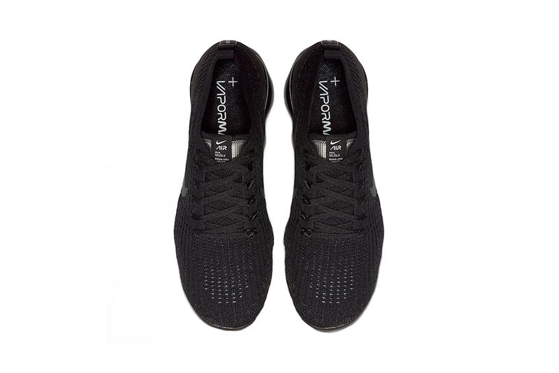 26d9a7374493e nike air vapormax flyknit 3 0 triple black 2019 march footwear nike running  nike sportswear