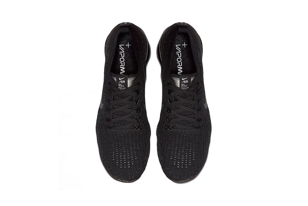 Nike Air Vapormax Flyknit 3 0 Triple Black Hypebeast