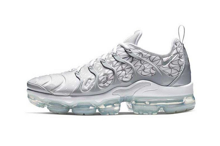 617c849a6a3a9 Nike Air Vapormax Plus Receives a Crisp Silver   White Colorway for March