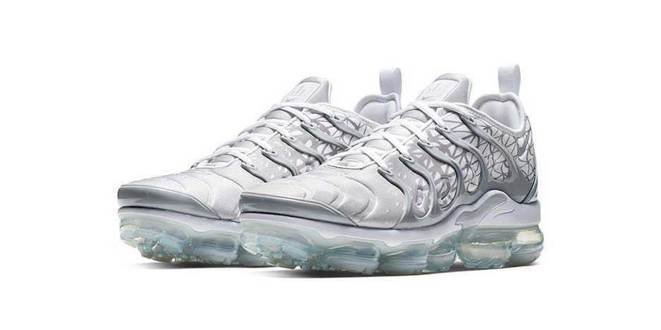 bb9c47155d90 Nike Air Vapormax Plus Receives a Crisp Silver   White Colorway for March