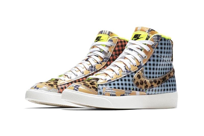 Nike Blazer Mid 77 Vintage Patchwork Pack First Look Leak Closer Details Sneaker footwear