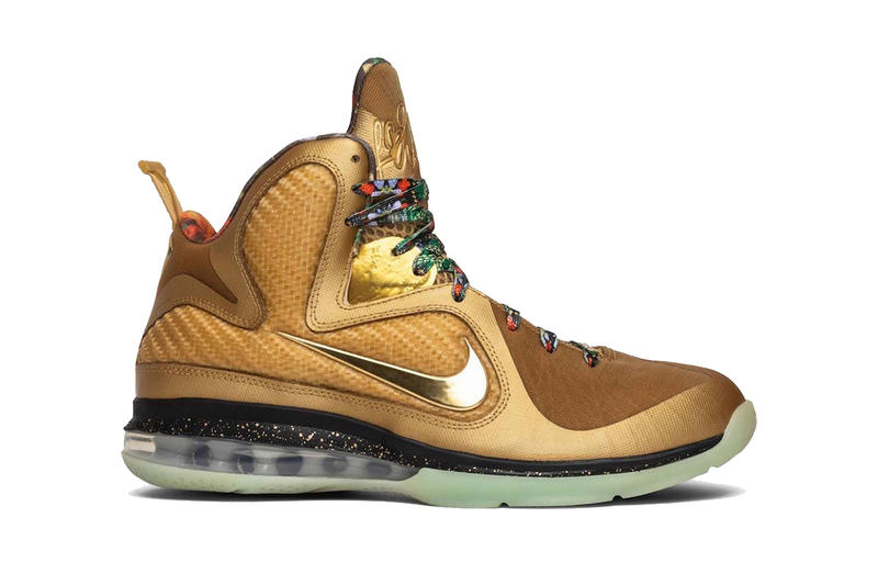 super popular 1bbf2 c6490 nike lebron 9 watch the throne gold sample lebron james footwear jay-z  kanye west